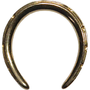 Antique Victorian 14K Gold Large Horseshoe Equestrian Stick Pin