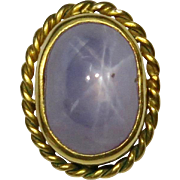 Antique Victorian 14K Gold Natural Star Sapphire Stick Pin