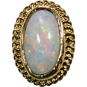 Antique Edwardian 14K Gold Opal Stick Pin