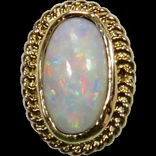Antique Edwardian 14K Gold Opal Stick Pin