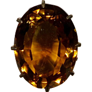 Antique Victorian 10K+ Gold Citrine Solitaire Stick Pin