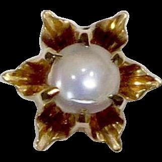 Antique Victorian 10K Gold Moonstone Stick Pin