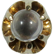 Antique Victorian 10K Gold Moonstone Orb Stick Pin
