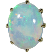 Antique Victorian 10K Gold Opal Cabochon Stick Pin