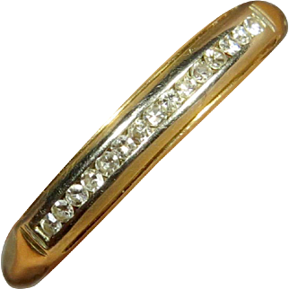 Vintage Art Deco 14K Gold 15 Stone Diamond Anniversary Ring