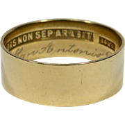 Antique 14K Gold Scottish Rites Masonic Mason's Plain Band Ring