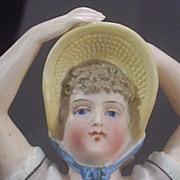 Antique Figural Bathing Beauty Match Holder