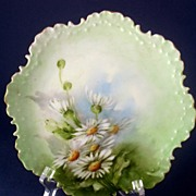 Antique Rosenthal Hand Painted Daisies Cabinet Plate Monbijou ~ Bavaria 1896-1907