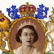 English Royalty ~ Queen Elizabeth II Coronation 1953 Commemorative Plate  ~ Royal Falcon Ware