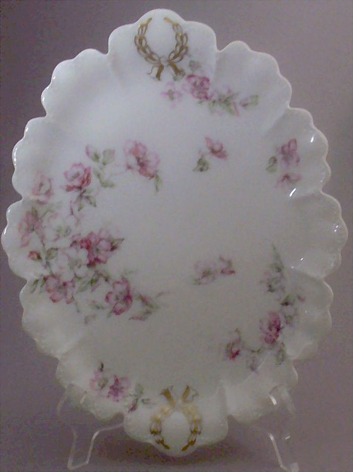 "Haviland Limoges France ""The Miramar"" Pattern Oval Serving Platter"