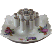 Unique Vintage Bavarian Combo Porcelain Cigarette Holder & Ashtray