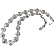 Classic Vintage 1950's Faceted-Crystal Necklace