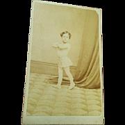 Miniature strong man young boy CDV ballet dancer child actor performer Moore Victorian circa 1870's