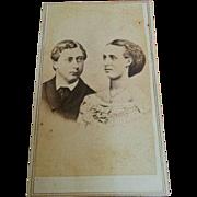 Fredrick's & Co CDV portrait England Edward VII & Wife Alexandra circa 1860's photograph