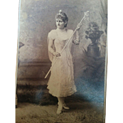 Mobile Alabama Mardi Gras beautiful young woman in costume cabinet card photograph