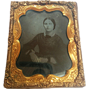 Circa 1850's ambrotype ruby glass photograph nice clarity pretty young woman
