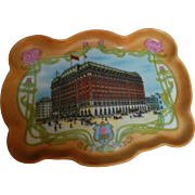 Early 1900s Hotel Astor porcelain tip tray dish Schwarzburg China Nathan Straus & Sons