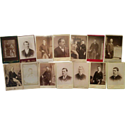 Lot of 14 cabinet cards photographs from Cornwall Redruth H A Chapman Swansea UK & London