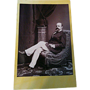 Rare photographer Francisco van Camp Manila Philippines cabinet photograph of Victorian gentleman