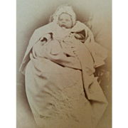 CDV portrait of baby infant girl named Patty taken in Yokohama Japan photographer Usua late 1800's