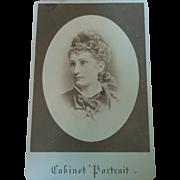 Stillfried & Andersen Yokohama Japan cabinet portrait elegant young western woman 1870s