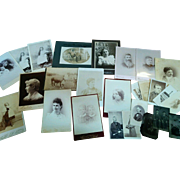 Lot 26 unusual cabinet photos CDV'S tintypes African American paintings animals