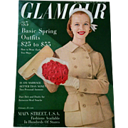 Feb 1956 Glamour fashion beauty jewelry magazine vintage style source great condition