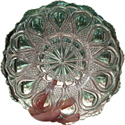 EAPG New Jersey pattern U S Glass Co. footed console bowl early 1900's elegant