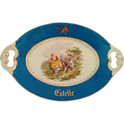 New York Yacht Club circa 1870s-80s schooner Estelle J D Smith Haviland Limoges porcelain platter