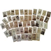 Lot 50 CDV photographs from the later 1800s Vermont some identification nice mix