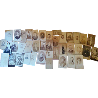 Lot of 39 CDV'S photographs circa mid through later 1800s variety resale craft