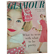 Vintage March 1958 Glamour fashion & beauty magazine makeup clothing hair retro