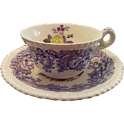 Lovely Copeland Spode Mulberry Beverley stoneware cup & saucer old makers mark
