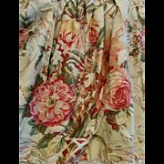 Vintage Ralph Lauren dust ruffle GUINEVERE pattern sateen cotton queen size bed