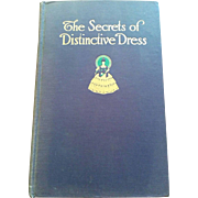 The Secrets of Distinctive Dress book signed by Mary Brooks Picken original 1918 fashion & beauty