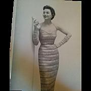 1955 Glamorous Morell Fashion knitting dress pattern book retro style inspiration