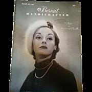 Vintage 1952 Bernat knitting book Angora & Chenille retro fashion style inspiration