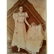 1890s unusual young bride or woman in communion dress cabinet card Photograph Victorian fashion