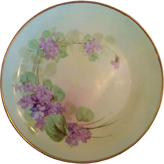 Hand painted Pickard plate Favorite Bavaria Hutschenreuther porcelain plate violets