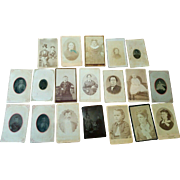 Lot of 19 CDV & tintype photographs Hurst family from Indiana Post Civil war