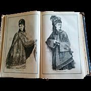 Victorian Peterson's magazine bound year 1876 fashion patterns cookery