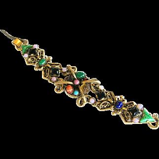Renaissance Revival Vintage Cabochon Bracelet