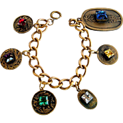 Joseff of Hollywood Asian Chinese theme Charm Bracelet