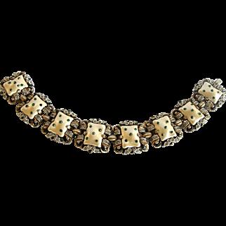 Trifari 1942 Ming Series Enamel Bracelet