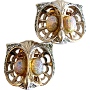 Marcel Boucher Vintage 1948 Owl Earrings with MB Mark