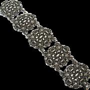 Carrcraft Sterling Vintage Renaissance Revival Style Bracelet