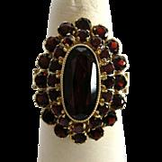 Bohemian Garnet .333 (8 Kt) Ring