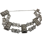 Peruzzi Silver 800 Florence Vintage Italian Renaissance Revival Bracelet