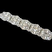 Vintage Austria Glitzy Wide Rhinestone Bracelet