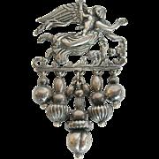 800 Silver Angel and Cherub Pin